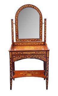 Antique Marquetry Inlay Vanity