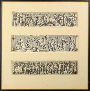 17th/18th C. Italian Etchings of Roman Gods