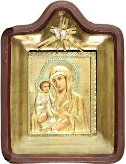 Antique 19th C. Russian Icon