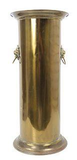 Brass Cane Stand w/ Lion Mask Decoration