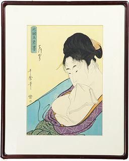 After Kitagawa Utamaro, Japanese Woodcut Print