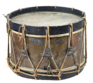 Antique Drum w/ Original Rope Straps