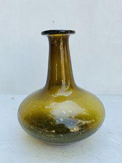 Large Blenko Glass Bottle