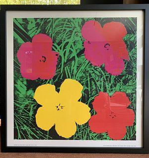 "VINTAGE ANDY WARHOL ""FLOWERS"" Serigraph, FRANCE 1964"