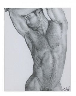 Kevin Ford Figurative Male Nude Glecee, Artist Proof