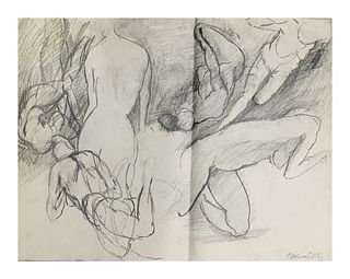 Oscar Murillo  Figural Drawings of Nude Females