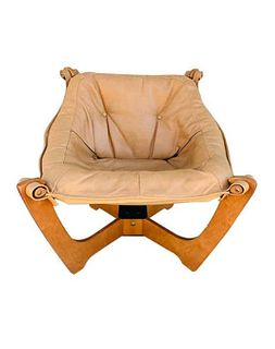 'Luna' Chairs by Odd Knutsen in Tan Leather