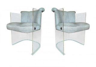 Pair of Vladimir Kagan chairs model 6700