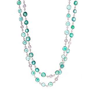 An Impressive 80.00 ctw Emerald & Diamond Chain