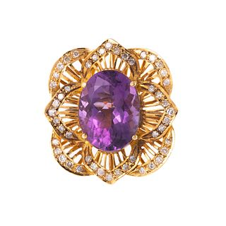 A Statement Ring Featuring Amethyst & Diamonds