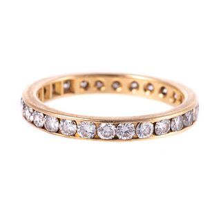 A Diamond Eternity Band in 14K Yellow Gold