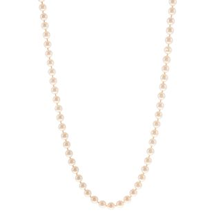 A Strand of Cultured Pearls with 14K Clasp