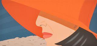 "Alex Katz ""Orange Hat"" Screenprint, Signed Edition"