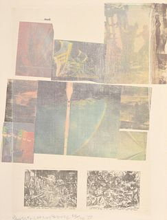 "Robert Rauschenberg ""People..."" Lithograph, Signed"