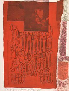 """Robert Rauschenberg """"More Distant..."""" Screenprint"""