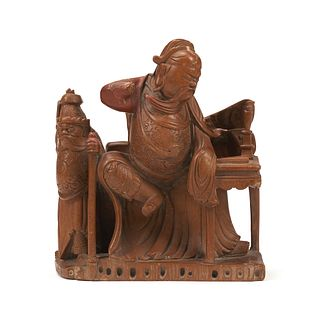 Early Chinese General Guandi Soapstone Carving