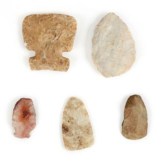 Grp: 5 Stone Tools Points