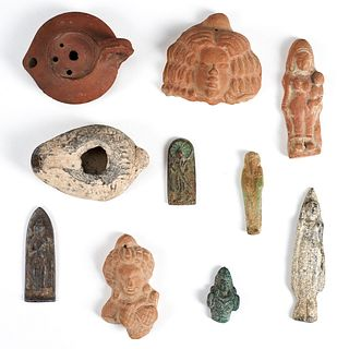 Grp: 10 Egyptian Objects