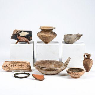 Grp: 9 Roman Pottery Fragments & Vessels