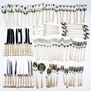Set of Alvin Repousse Sterling Silver Flatware
