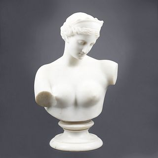 Early 20th C. Female Nude Marble Bust