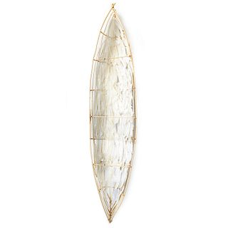 "Truman Lowe ""Feather Canoe"" Mixed Media"