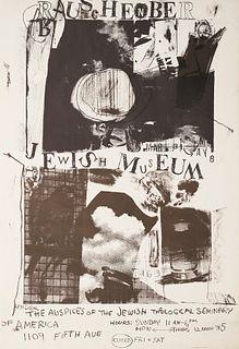 Rauschenberg Jewish Museum 1963 Exhibition Poster