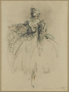 Louis Icart Dancer Hand-Colored Lithograph