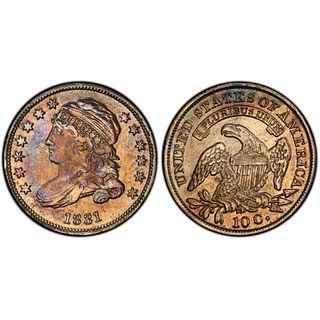 1831 10 Cent Coin AU PCGS
