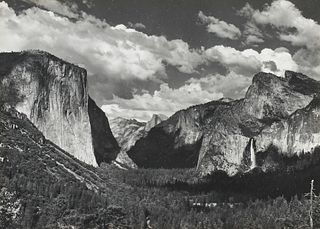 Ansel Adams Silver Gelatin Print Yosemite Valley Signed
