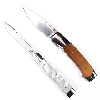 Grp: 2 Folding Knives - Sawby & Shadley