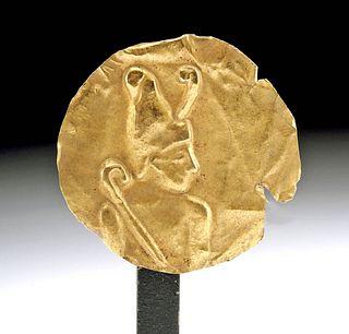 Egyptian Gold Applique Depicting a Pharaoh