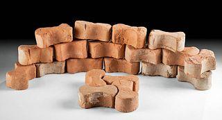 """Roman Terracotta """"Dog Bone"""" Tiles, 20 pcs"""