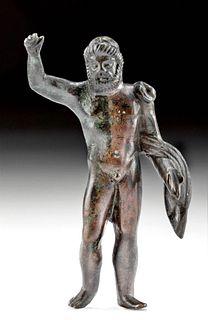 Roman Leaded Bronze Statuette Neptune