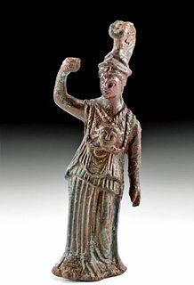 Roman Leaded Bronze Statue of Minerva (Athena)