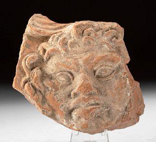 Roman Terracotta Relief Plaque Fragment w/ Gorgon Face