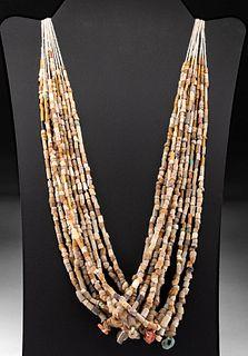 10 Roman Glass & Stone Bead Strands