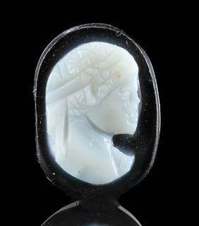 Miniature Roman Sardonyx Cameo