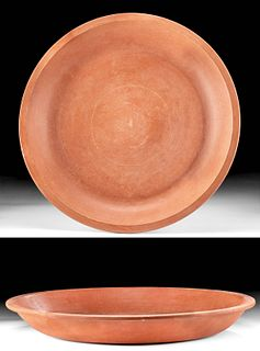 Large Roman North African Redware Pottery Dish