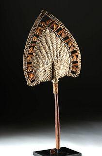 Rare 19th C. Samoan Woven Fan