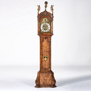 A Walnut Musical Tall Case Clock