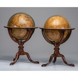 A Pair of Cary's New Terrestrial and Celestial Globes
