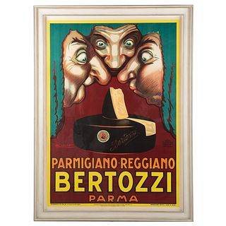 "Luciano Mauzan. ""Bertozzi Parma,"" lithograph"