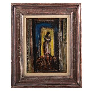 """Ferdinand Warren. """"Gullah Lullaby,"""" oil on panel"""