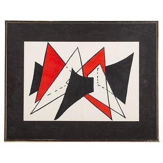 Alexander Calder. Untitled, color lithograph