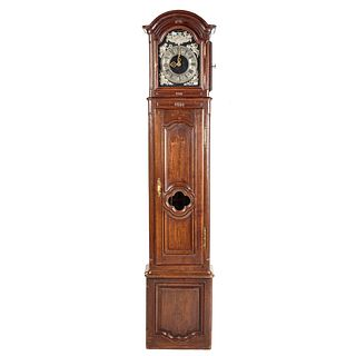 French Oak Tall Case Clock
