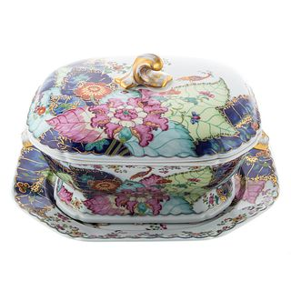 Mottahedeh Tobacco Leaf Soup Tureen & Underplate