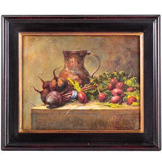 "David B. Good. ""Beets and Pomegranates,"" oil"