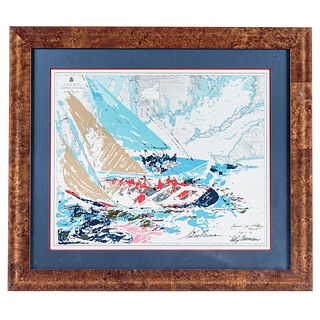 """LeRoy Neiman. """"America's Cup 1964,"""" lithograph"""