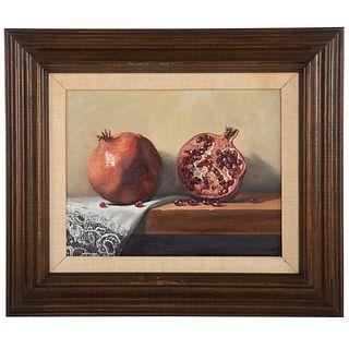 David Zuccarini. Pomegranates, oil